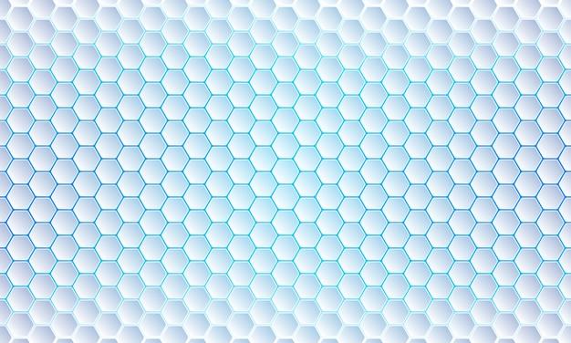 Fond bleu d'hexagone