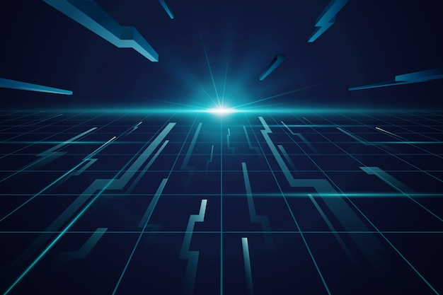 Fond bleu horizon futuriste