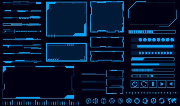 Fond bleu d'interface hologramme
