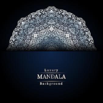 Fond bleu mandala de luxe