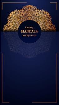 Fond bleu mandala