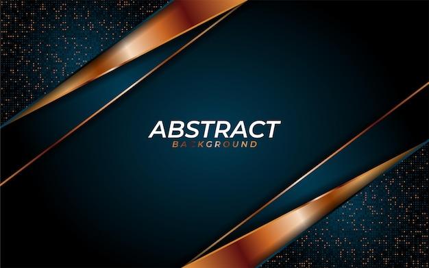Fond bleu marine luxueux avec texture dynamique et combiner avec des lignes géométriques