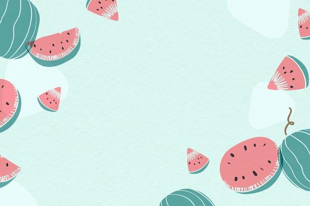 Fond bleu de melon d'eau