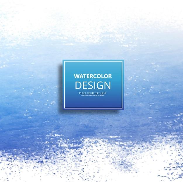 Fond bleu moderne d'aquarelle