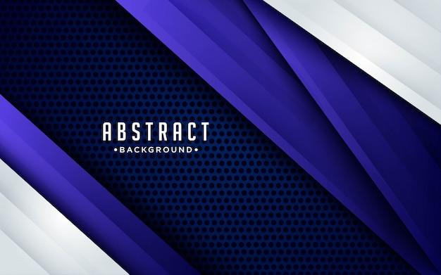 Fond bleu moderne avec effet de couches de chevauchement 3d. éléments de conception graphique.
