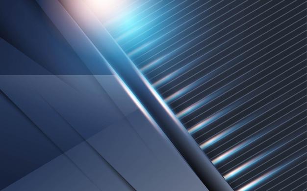 Fond bleu moderne avec une ligne bleue et or en texture carbone