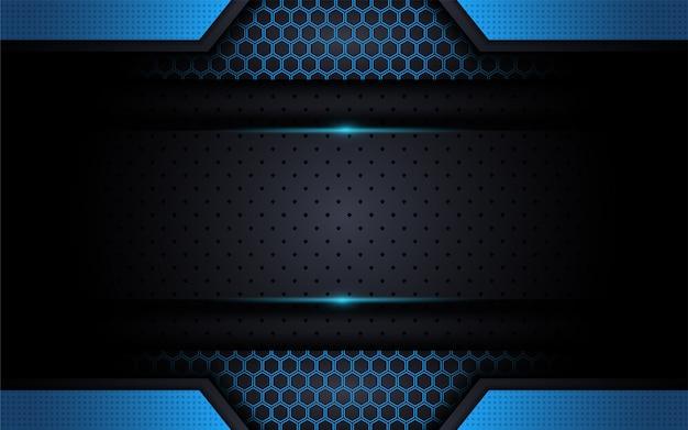 Fond bleu moderne tech avec style abstrait