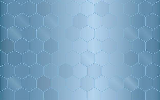 Fond bleu motif géométrique.