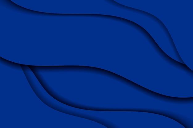 Fond bleu à motifs ondulés abstrait de vecteur