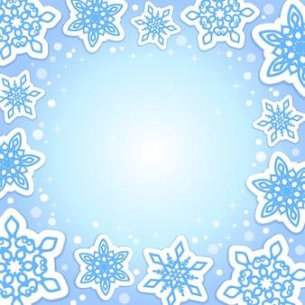 Fond bleu de noël et du nouvel an
