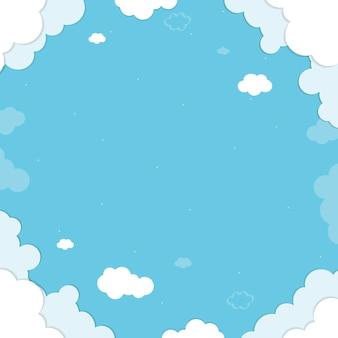 Fond bleu nuageux