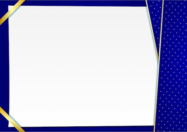 Fond bleu avec des points élégants dorés