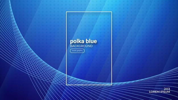 Fond bleu polka