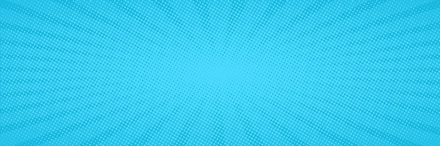 Fond bleu pop art comique avec des points. dessin animé