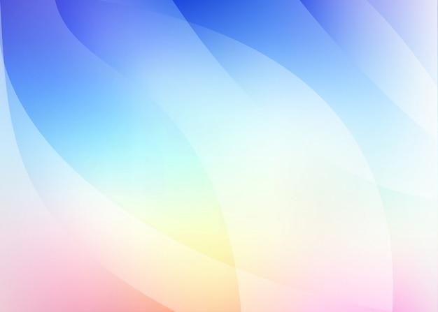 Fond en bleu, rose avec des vagues