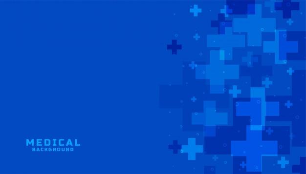 Fond bleu de science médicale et de soins de santé