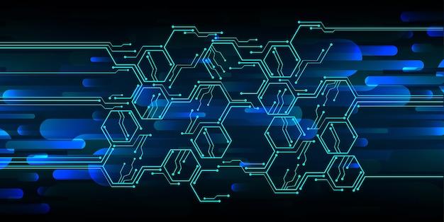 Fond bleu technologie de circuit cyber