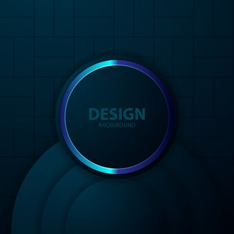 Fond bleu avec technologie moderne de couleur abstraite