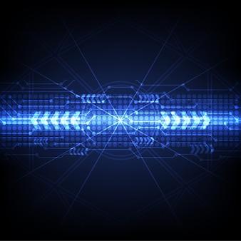 Fond bleu de la technologie numérique futuriste