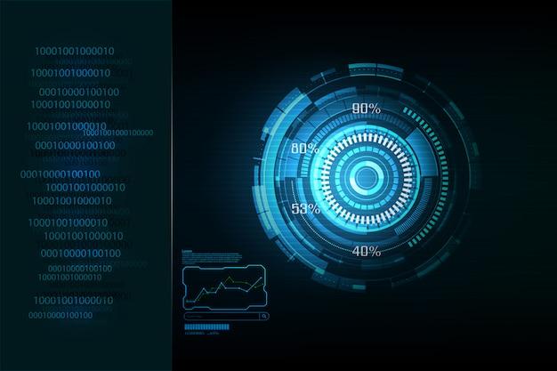 Fond bleu de la technologie numérique