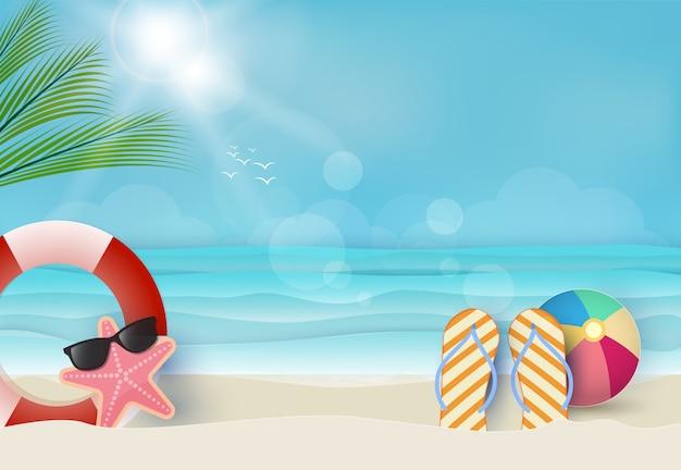 Fond bleu de vacances d'été