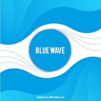 Fond bleu avec des vagues abstraites