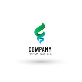 Fond bleu et vert du logo
