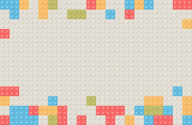 Fond de bloc de construction en plastique. briques de blocs de construction de jouets pour enfants.