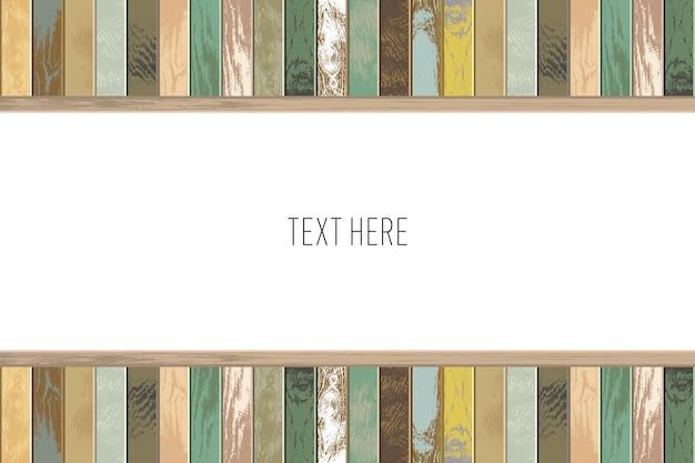 Fond en bois vintage avec des couleurs anciennes et fanées.
