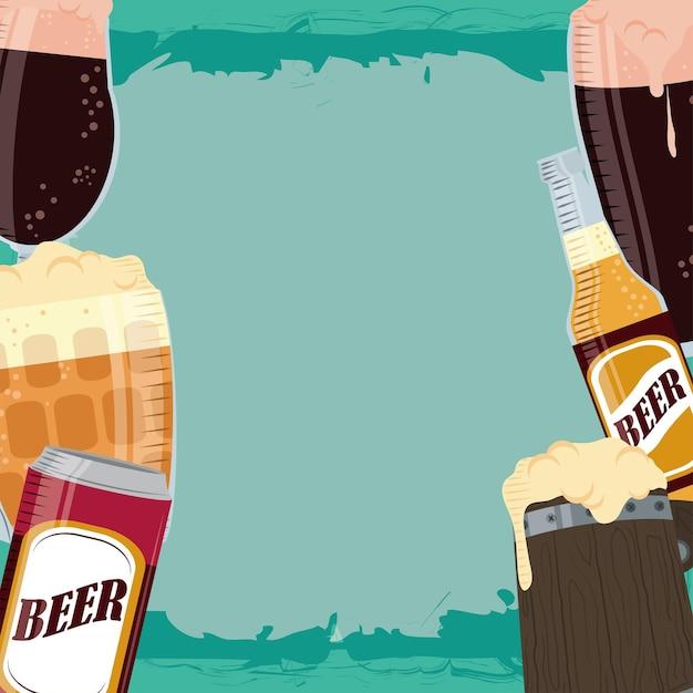 Fond de boisson bières