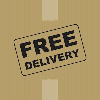Fond de boîte de livraison gratuite