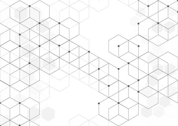 Fond de boîtes abstraites. technologie moderne avec maille carrée. géométrique sur fond blanc avec des lignes. cellule cubique. illustration vectorielle