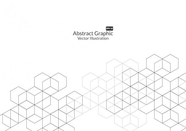Fond de boîtes abstraites. technologie moderne