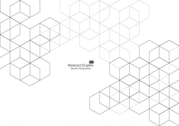 Fond de boîtes abstraites