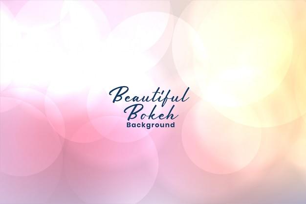 Fond de bokeh floue rose tendre élégant