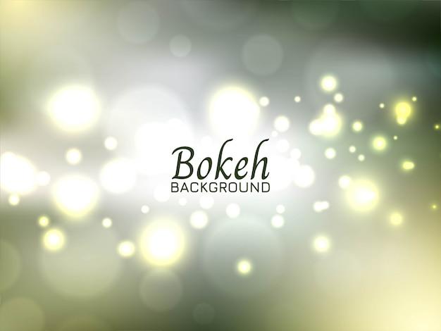 Fond de bokeh lumineux vert moderne