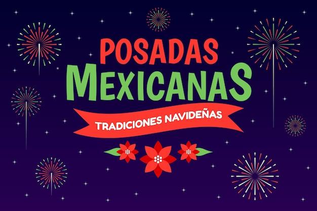 Fond de bokeh posadas mexicanas