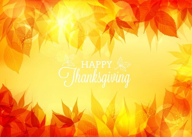 Fond de bokeh de thanksgiving de vecteur