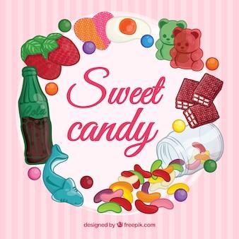 Fond de bonbon sucré