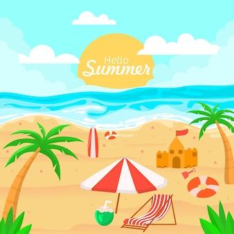 Fond bonjour prime d'été