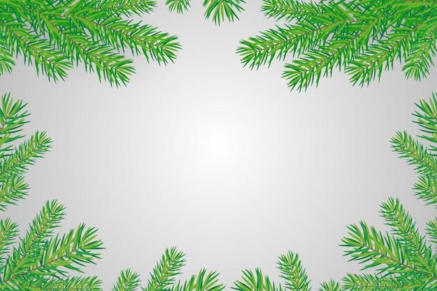 Fond de bonne année avec des branches d'arbres de noël