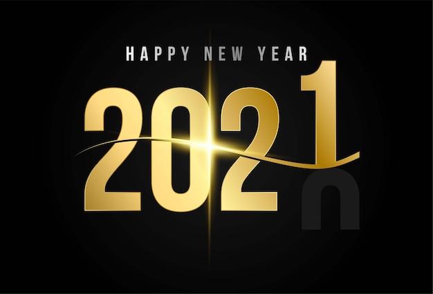 Fond de bonne année doré