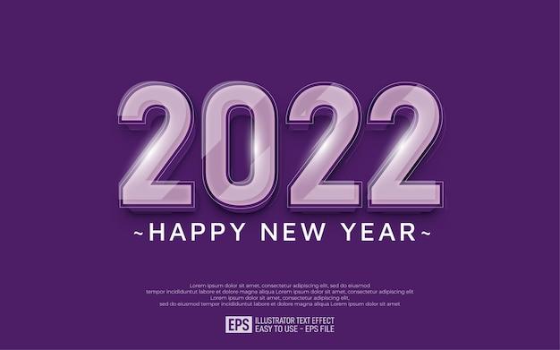Fond de bonne année moderne avec des numéros d'effet de verre