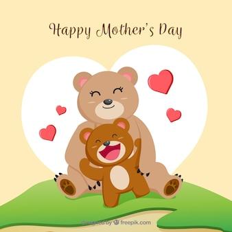 Fond de bonne fête des mères avec la famille