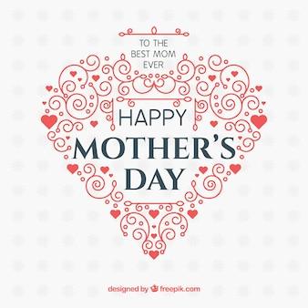 Fond de bonne fête des mères avec des ornements