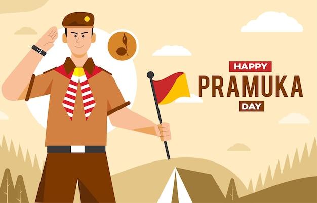 Fond de bonne fête pramuka