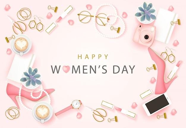 Fond de bonne journée internationale des femmes