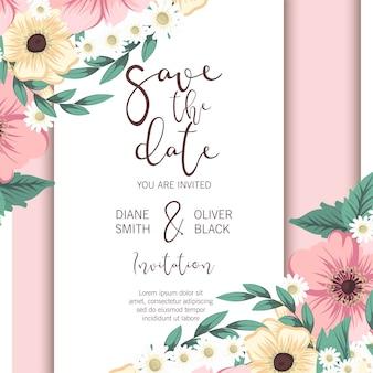 Fond de bordure florale - bordure de fleur rose