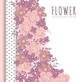 Fond de bordure florale