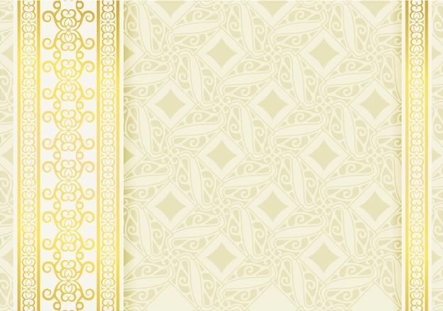 Fond de bordure de tourbillon de calligraphie blanche de luxe